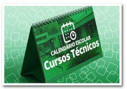Link para o calendário escolar dos cursos técnicos